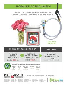 Get a FREE Floralife Dosing System!