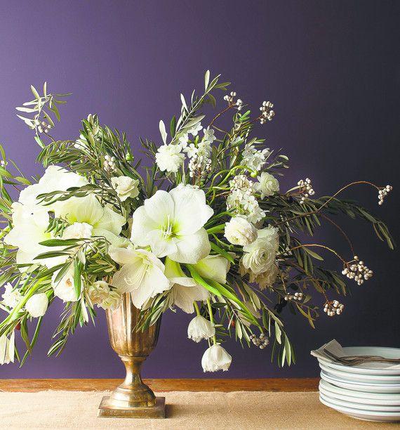 White amaryllis centerpiece dreisbach wholesale florists
