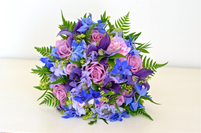Blue Purple and Pink Rustic Country Bouquet by Fiori by Lynne ...
