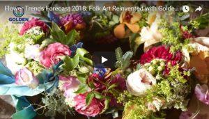 IFD Flower Trends Forecast 2018: Folk Art Reinvented with Golden Flowers