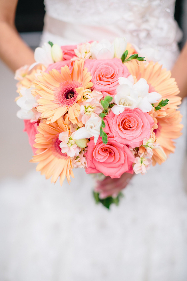 Gerbera bouquet by Dream Bouquet photo by Luke and Cat Photography ...