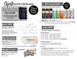 April Supply Specials