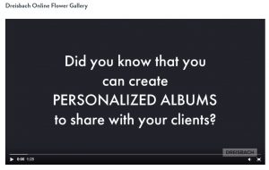Online Flower Gallery - How to Create an Album