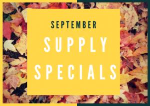 September Supply Specials