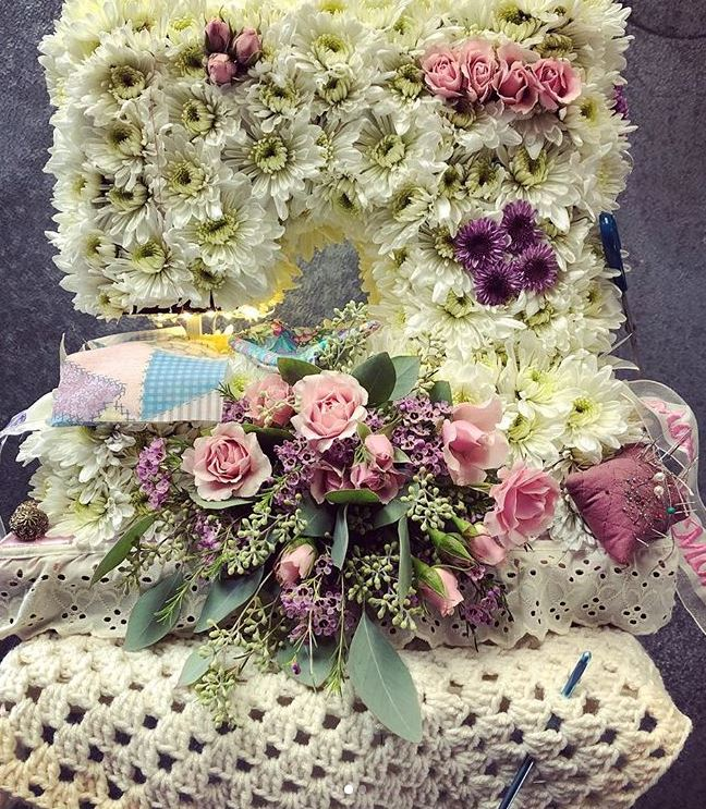 Sewing Machine Tribute Arrangement by All That Bloomz