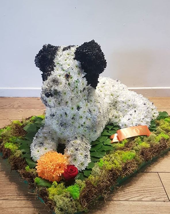 Dog Tribute Flowers from At Me to You Flowers