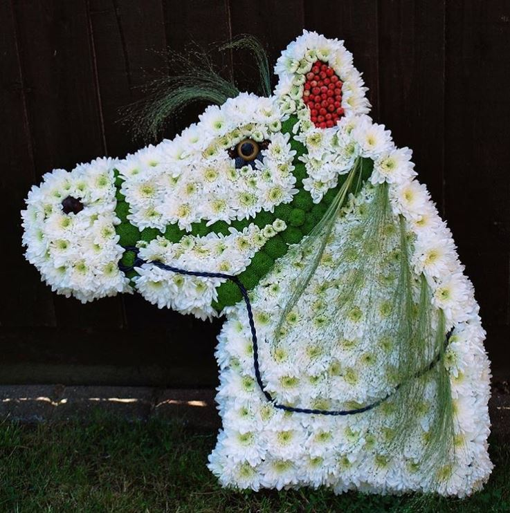 Horse Tribute Flower Arrangement by Joe Beth Floral