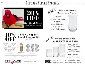 October Supply Specials