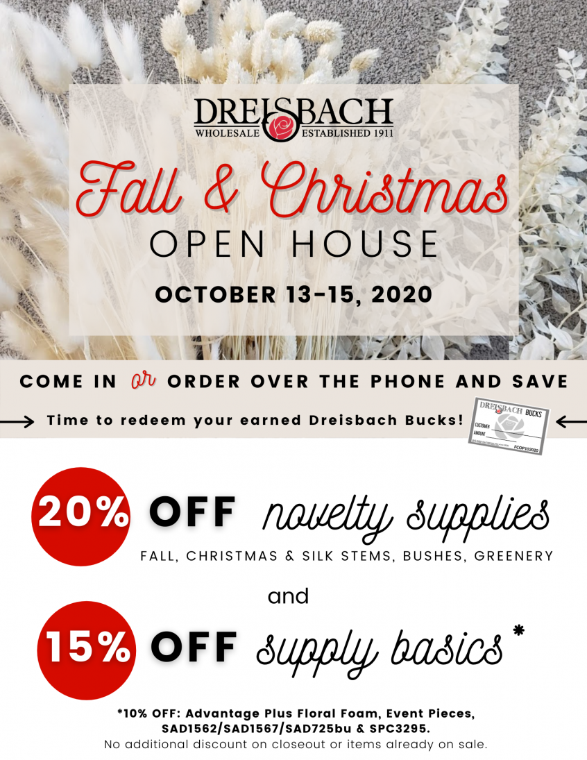 Another Place In Time Christmas Open House 2020 Fall and Christmas Open House | Dreisbach Wholesale Florists